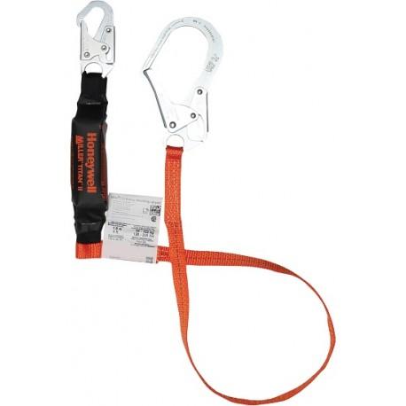 Titan Lanyard: shock absorbing pack, 4' w/ rebar & snap hooks