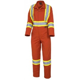 Pioneer Women's Safety Coverall: poly/cotton, CSA