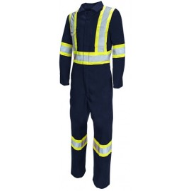 PIO Safety Coveralls: poly/cotton