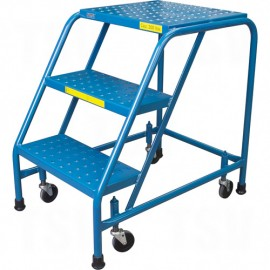 "Rolling Step Stand: 3 Steps, 28"" Platform Height"