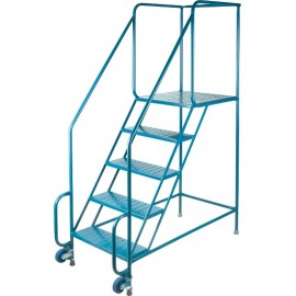 "Tilt-N-Roll Ladder: 5 Steps, 77"" Hieght"