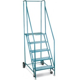 "Rolling Steel Ladder: 5 step, 46"" platform"