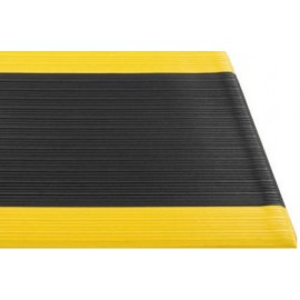Soft Spun Anti Fatigue Mat: black / yellow border