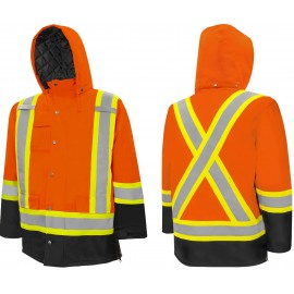 Traffic Parka: Hi-Visability Orange / Black, Wasip