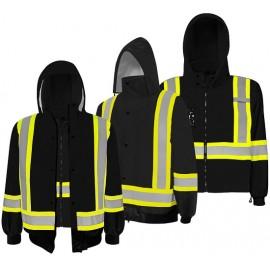 Traffic Jacket: 3 in 1 Hi-Vis Black
