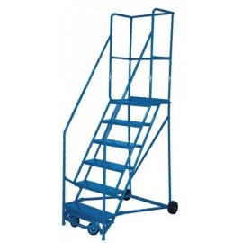 Rolling Steel Ladders - Featherlite