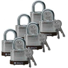 "Brady Steel Padlock: 3/4"", Purple"