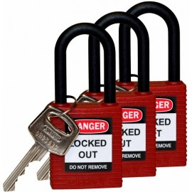 Safety Padlock: Nylon Shackle 1.5""