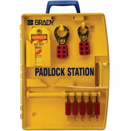 "Brady Padlock Station – 5 KD Safety Locks (1.5"")"