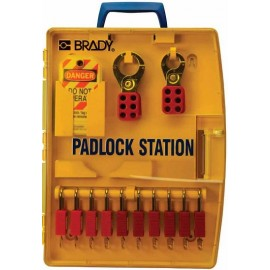 "Padlock Station – 10 KD Safety Locks (1.5"")"