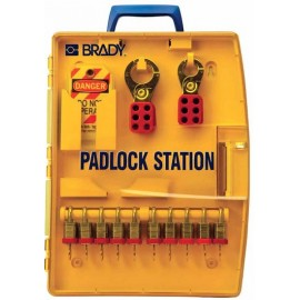 "Brady Padlock Station – 10 KD Locks (.75"")"