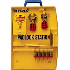 "Brady Padlock Station – 5 KD Locks (.75"")"