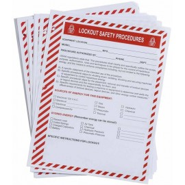 Lockout Procedure Forms