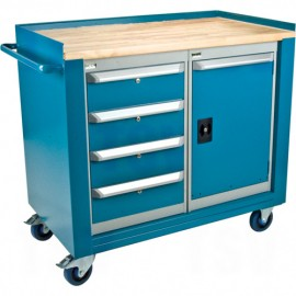 Mobile Service Bench: 4 Drawers / 1 Door