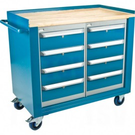 Mobile Service Bench: 8 Drawers