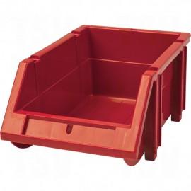 Plastic Bin: Hi-Stak, Red
