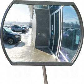 "Roundtangular Convex Mirror: 12"" x18"", Outdoor"