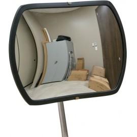 "Roundtangular Convex Mirror: 12"" x 18"", Indoor"