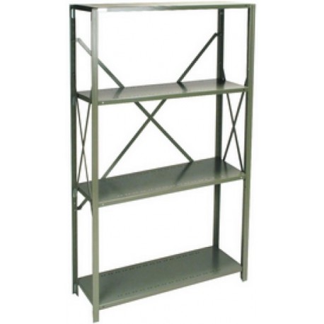Boltless Shelving Unit: steel, 4 shelf, open