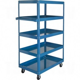 Knocked-Down Shelf Carts - 5-Shelf Utility Trucks