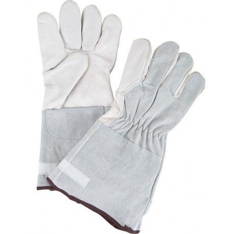 Grain Goatskin Gloves - Fleece Lined (Medium)