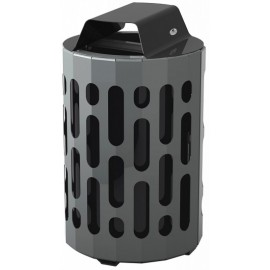 Stingray Waste Receptacle: black