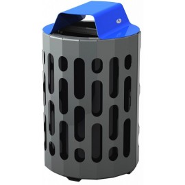 Stingray Waste Receptacle: blue
