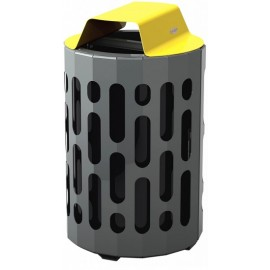 Stingray Waste Receptacle: yellow
