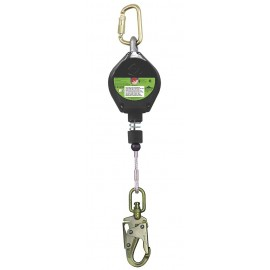 PeakWorks Self-Retracting Lifeline 10ft - Steel Locking Snap Hook