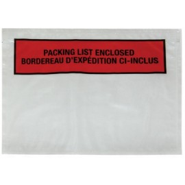 "Packing List Envelopes: 7"" X 5.5"" Bilingual"