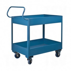 "Ergonomic Shelf Truck: rubber wheels 26""x38""x37"""