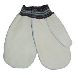 Leather Mitt: fleece lined