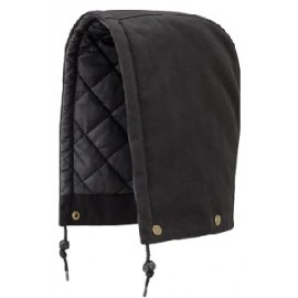HOOD: black quilted cotton duck