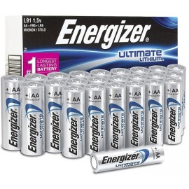 Energizer Ultimate Lithium AA Batteries,: 24 Count