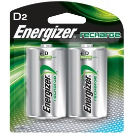 Energizer D2 - Rechargeable NiMH Batteries