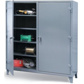 "DOUBLE SHIFT STORAGE CABINET:24""x48""x72"""