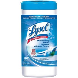 Lysol Disinfecting Wipes: 80 count Spring Waterfall