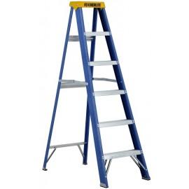 Fiberglass Step Ladder: 6' Heavy Duty