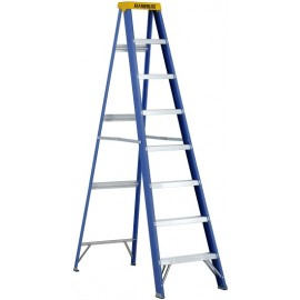 Fiberglass Step Ladder: 8' Heavy Duty