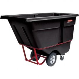 """Rubbermaid Polyethylene Tilt Truck: 38.5""""H X 28""""W X 60.5""""L"""