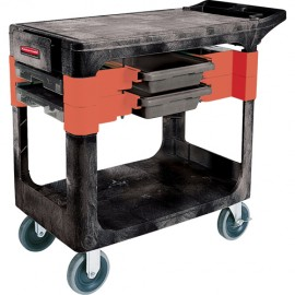 "Rubbermaid Maintenance Tool Cart: 33-3/8""H X 19-1/4""W X 38""L"