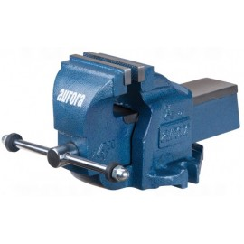 "Bench Vise: 4"" heavy duty, fixed base"