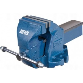 "Bench Vise: 5"" heavy duty, fixed base"