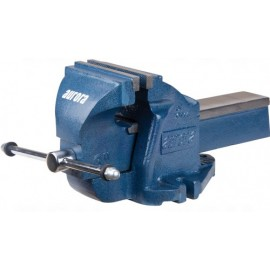 "Bench Vise: 6"" heavy duty, fixed base"