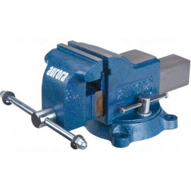 "Bench Vise: 4"" jaws, heavy duty swivel base"