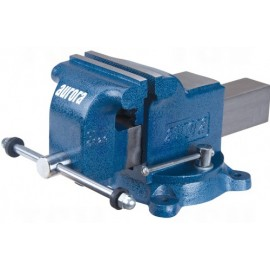 "Bench Vise: 5"" jaws, heavy duty swivel base"