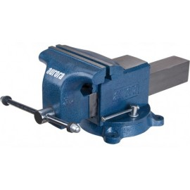 "Bench Vise: 8"" jaws, heavy duty swivel base"