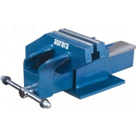 "Offset Bench Vise: 6"" jaws, heavy duty fixed base"