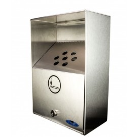 Frost Heavy Duty Outdoor Ashtray: stainless wall mount 1L