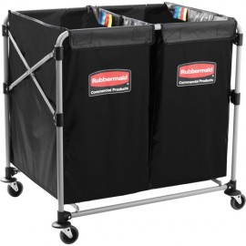 Rubbermaid X Cart: collapsible, double 4 bushel